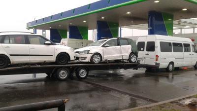 Transport auto pe platforma, Italia Romania, vw polo, skoda fabia