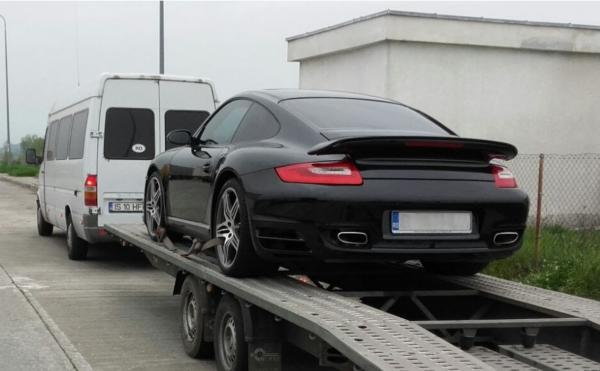 Transport auto pe platforma Bucuresti Monaco porsche carrera 977 turbo S