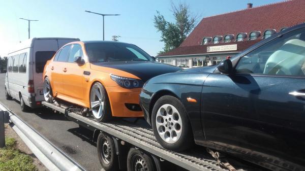 Tractare auto international Italia Romania bmw seria 5 si alfa romeo